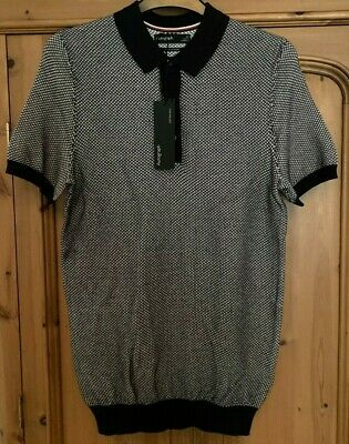 £12.99 • Buy Marks & Spencer M&S Autograph Knitted Cotton Blend Polo Shirt XS 32-34in NEW