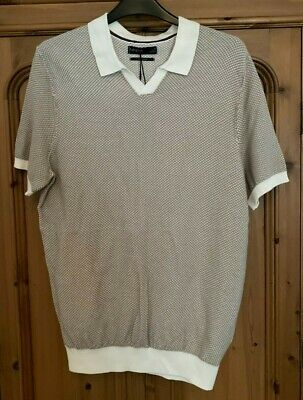 £12.99 • Buy Marks & Spencer M&S Autograph Knitted Cotton Blend Polo Shirt S 35-37in NEW