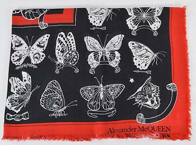AU238.47 • Buy New Alexander McQueen 609163 INKED BUTTERFLY Tattoo Theme Large Modal Scarf