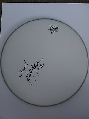 £174.99 • Buy Brian Johnson Signed Remo Drum Skin, Acdc, Music *PHOTO PROOF + COA*