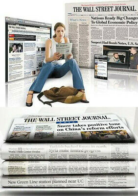 $117.19 • Buy Wall Street Journal Subscription Print With Digi 1 Year WSJ 4-5 DAY START TIME
