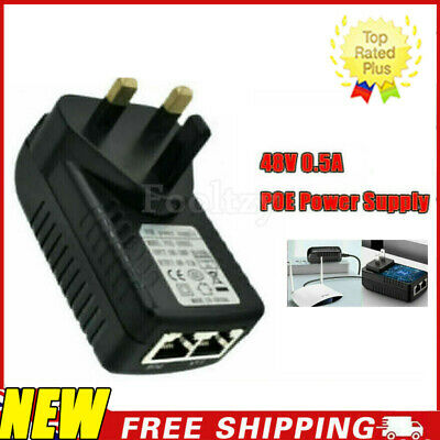 £3.85 • Buy POE Power Supply PoE Injector Adapter Wall UK Plug Power Over Ethernet 48V 0.5A