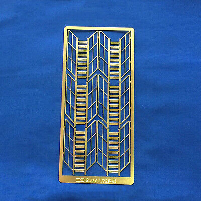 £10.43 • Buy For 1:72 RC Model Boats Brass Etching Sheet Etched Inclined Ladder DIY Parts FRC