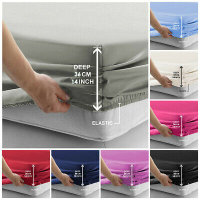 AU23.99 • Buy 2000TC Luxury Deep Fitted Sheet Ultra Soft Double/Queen/King/Single Bed Cover AU