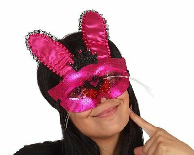 £3.95 • Buy Party Eye Mask With Bunny Ears & Nose - Hen Party Dress Up Accessory - Pink