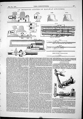 $23.39 • Buy Antique Print 1874 System Railway Switches Machinery Hydraulic Jack Priming