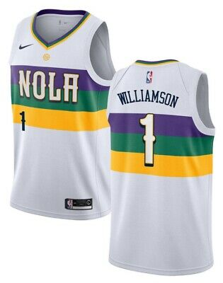 $39.99 • Buy Stitched Nike Zion Williamson New Orleans Pelicans Mardi Gras Jersey Size Large