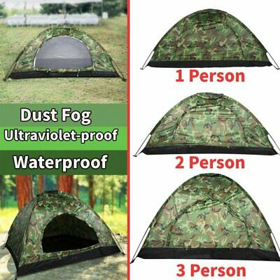 AU27.54 • Buy 1-4 Person Camouflage Tent Waterproof Windproof Shelter Outdoor Camping Hiking