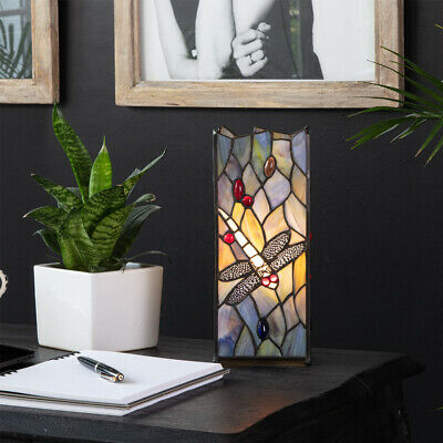 £48.99 • Buy MiniSun Table Lamp - Traditional Butterfly Design Stained Glass Bedside Light