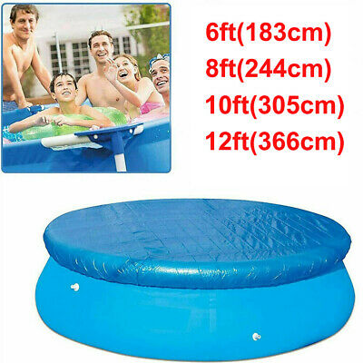 £19.59 • Buy Round Swimming Pool Cover For Outdoor Garden Paddling Family Frame Pools Cover