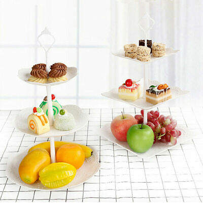 £6.55 • Buy 3 Layer Large Cake Cupcake Stand Food Fruit Holder Wedding Plate Party Tableware
