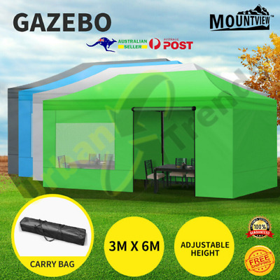 AU239.90 • Buy Mountview Gazebo Tent 3x6 Marquee Gazebos Mesh Side Wall Outdoor Camping Canopy
