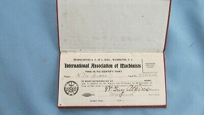 $9.99 • Buy International Association Of Machinists Union Stamp Book-RGS RR Ridgway Colo.