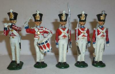 £9.50 • Buy A Group Of White Metal Napoleonic Soldiers, Marked 'g & B'