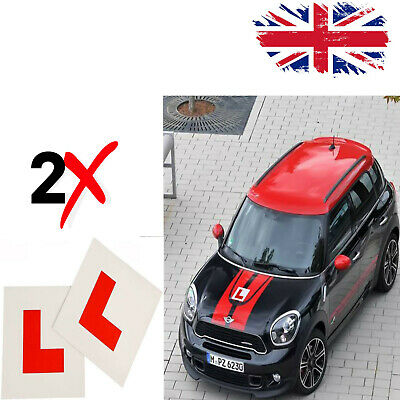 £1.97 • Buy 2 X FULLY MAGNETIC L PLATES SECURE Learner Sign Quick Easy To Fix