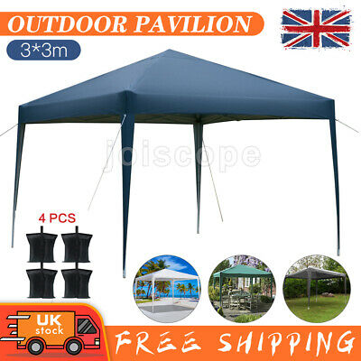 £59.99 • Buy 3x3M Gazebo Marquee Waterproof Outdoor Garden Awning Party Tent Wedding Canopy