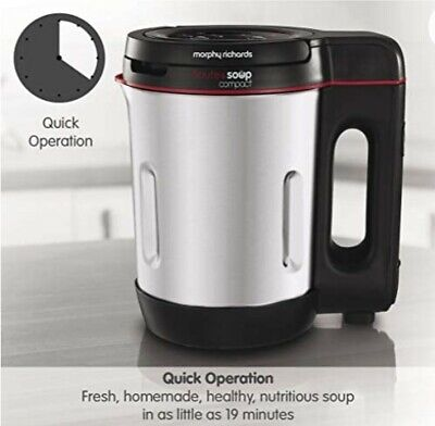 £35 • Buy Morphy Richards 900 W 1 L Compact Stainless Steel And Soup Maker