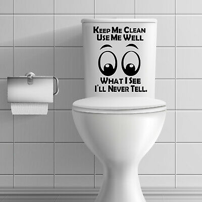 £2.19 • Buy Toilet Quotes Funny Stickers Decals Bathroom Wall Tiles Toilet Seat Home  #AT