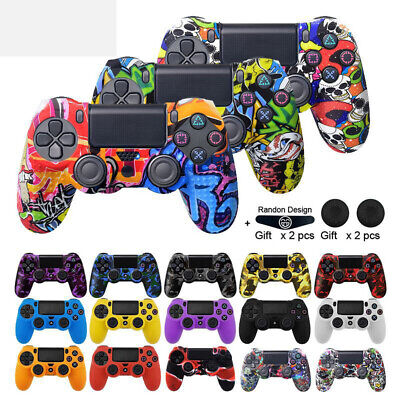 AU10.99 • Buy Silicone Rubber Graffiti Protective Controller Case Cover For PS4 Playstation 4
