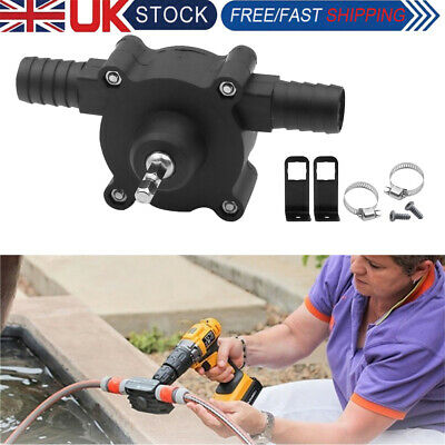 £6.09 • Buy Hand-Electric-Drill Self Priming Drive Pump Small Pump Oil Fluid Water Transfer
