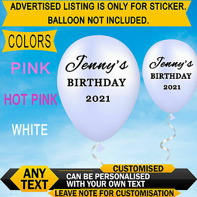 £1.99 • Buy Personalised Name Word Number Sticker Birthday  Balloon Wedding Baby #AT#ST