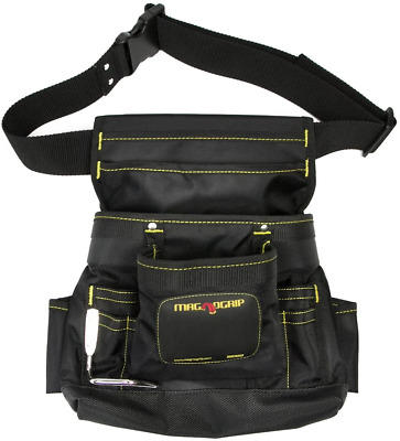 $27.95 • Buy MagnoGrip 002-412 10-Pocket Magnetic Tool Pouch With Belt, Black
