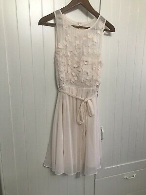 AU20 • Buy Forever New Sz 10 Blush Pink Dress With Beads/Flower Detail