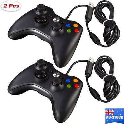AU20.99 • Buy 2/1X Black Xbox 360 Wired Controller For Windows & Xbox 360 Console PC USB Wired