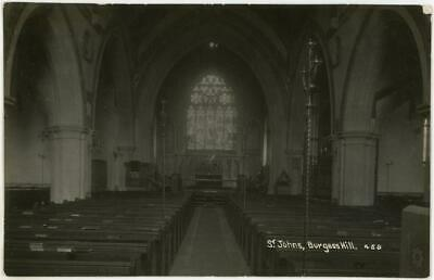 £9.99 • Buy 1914 Burgess Hill Sussex St Johns Church Interior Real Photo Postcard
