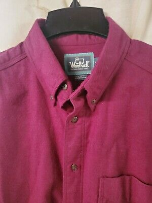 $15 • Buy Woolrich Sportsman Chamois Mens L Made In USA Button Down Shirt MINT