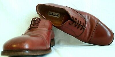 £24.99 • Buy Mens Italian Designer Shoes By Bally Size EUR 40.5 Brown 100% Soft High Leather