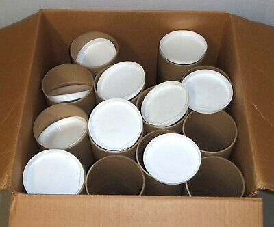 $29.95 • Buy Lot Of 13 Kraft Poster Mailing Tubes W/ White End Caps 4 Dia X 26 L X.08  Thick