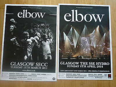£9.49 • Buy Elbow -- Collection Of Scottish Tour Glasgow Live Show Concert Gig Posters X 2