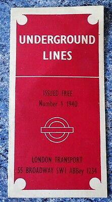 £20.99 • Buy London Transport Underground Lines Route Map Number 1 1940