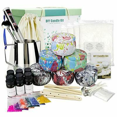£47.99 • Buy Scented Candle Making Kit DIY Gift Set, 28oz BeesWax, 6 Large Candles Tins 500ml