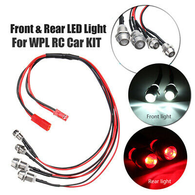 $7.58 • Buy Front + Rear 4 LED Light Headlight Spare Parts For WPL KIT RC Car Military Truck