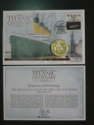 £5.50 • Buy Titanic 2012 £5  Westminster  Coin Cover With Coa  (cvr.a1)