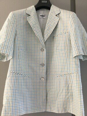 £9.99 • Buy Ladies Check Cotton Lined Summer Jacket HUCKE WOMAN GERMANY Size 18 Vintage
