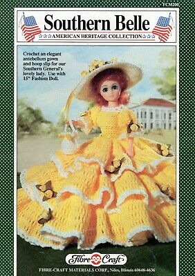 £1.90 • Buy ~ Fibre Craft Crochet Pattern For Beautiful Southern Belle Doll's Outfit ~