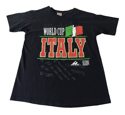 £18.18 • Buy Vintage Apex One 1994 World Cup Italy Soccer Team T-Shirt Mens L 100% Cotton USA