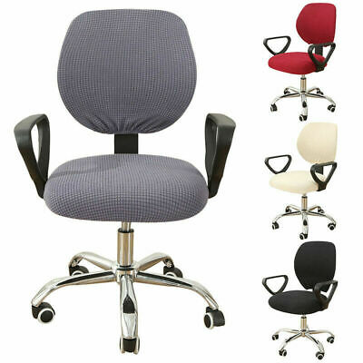 AU15.83 • Buy Office Chair Cover 2 Piece Split Swivel Chair Cover Wedding Party Banquet Decor