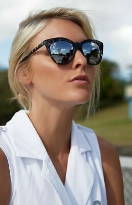 AU35 • Buy QUAY Isabell Black Tort With Silver Reflective Sunglasses Cateye BNWT NEW