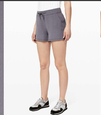 $ CDN42.33 • Buy Lululemon On The Fly Shorts Woven In Purple 2.5 Inch Casual Wear Excellent Cond