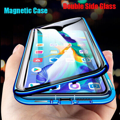 AU13.06 • Buy For Samsung S21 Ultra S20 A32 A72 360° Magnetic Tempered Glass Metal Case Cover