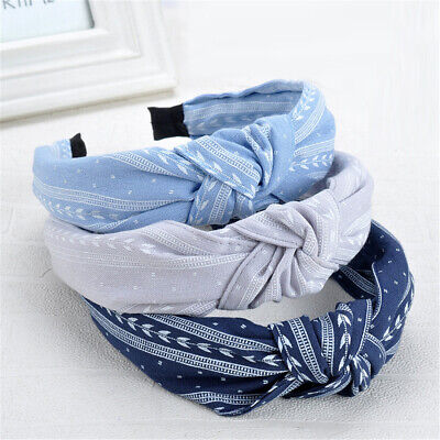 AU4.65 • Buy Women Girl Wide Hairband Cloth Bowknot Headband Party Prom Hair Accessories Gift