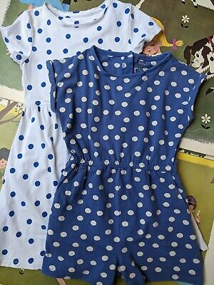 AU5.61 • Buy Girls John Lewis Spotty Dress And Jumpsuit Age 7 Years