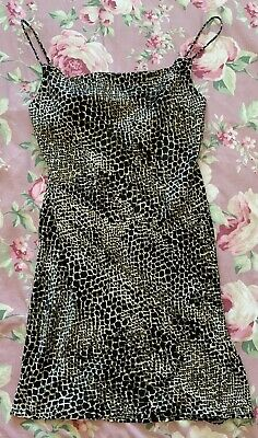 £2.40 • Buy BNWT Top Shop Cowl Neck Animal Print Cami Mini Dress Ruched Side Size 16 RRP £29
