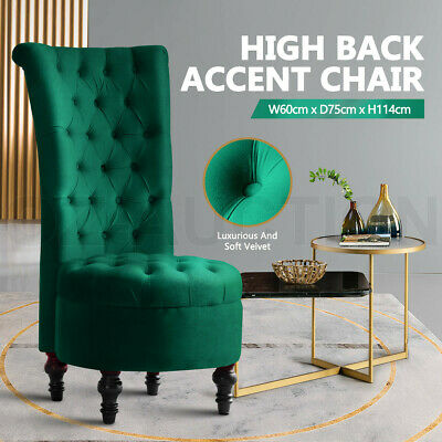 AU349.95 • Buy Luxury High Back Velvet Accent Chair Retro Lounge Chair Sofa Couch - Green