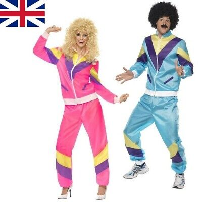 £12.99 • Buy Mens Womens Shell Suit Costume 80s 90s Scouser Tracksuit Stag Do Fancy Dress