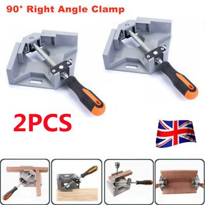 £13.99 • Buy 2pcs Wood Frame Corner Clamp Woodworking 90 Degree Tool Right Angle Clip Holder